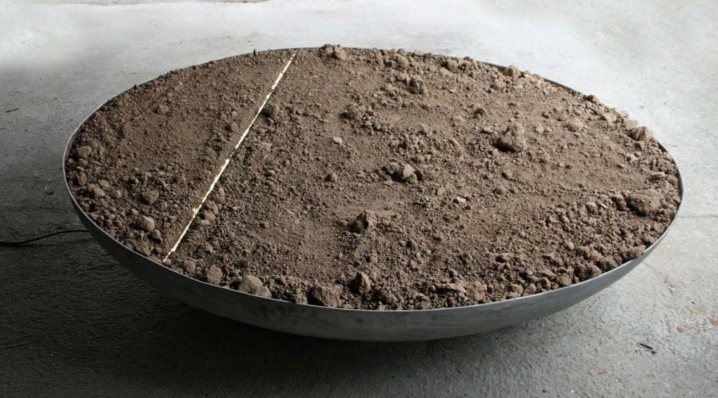 Lichtsekante 35  x 185 cm Erde, Leuchtmittel, Aluminium