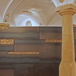 Tresor 2014, 200 x 600 x 30 cmStahl, Erdstücke