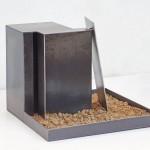 Stahl/Erde 2016 25 x 40 x 40 cm